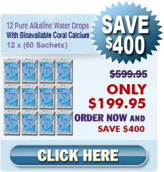 12 pure alkaline water drops